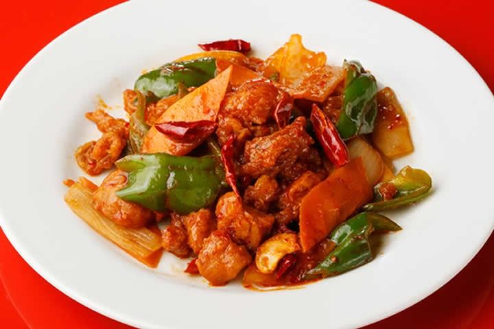四川風鶏肉の唐辛子炒め