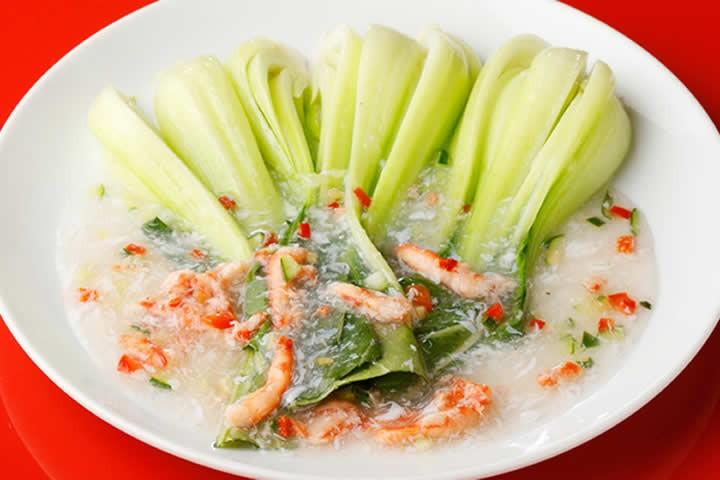 カニ肉と季節野菜炒め