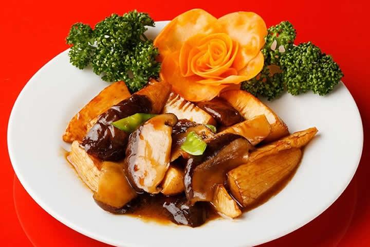 椎茸と筍の醤油炒め