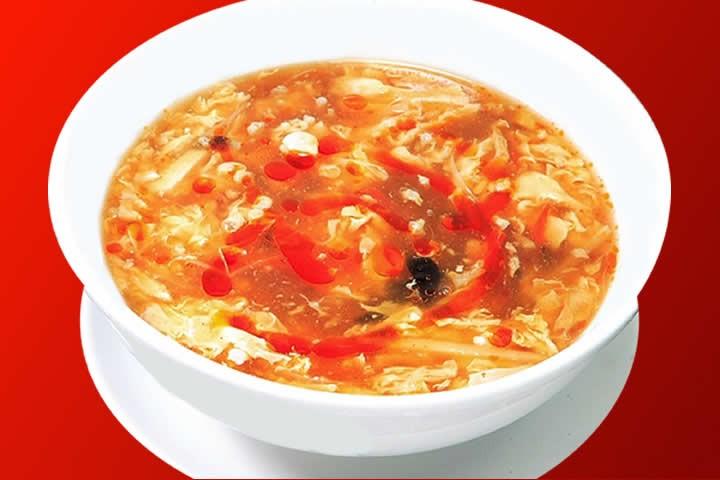 すっぱくて辛いスープ